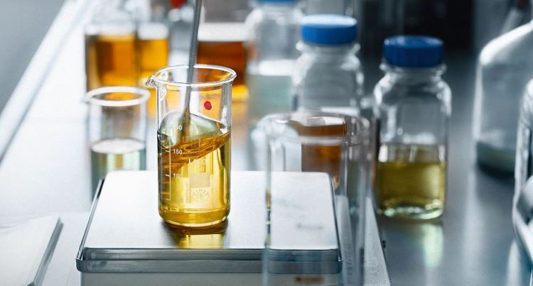 Lubricants in laboratory