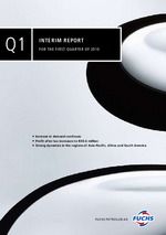 Cover of the Interim Report Q1 2010 of FUCHS PETROLUB SE