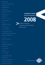 Cover of the Interim Report Q1 2008 of FUCHS PETROLUB SE