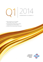 Cover of the Interim Report 2014 Q1 of FUCHS PETROLUB SE