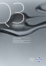 Cover of the Interim Report Q3 2013 of FUCHS PETROLUB SE