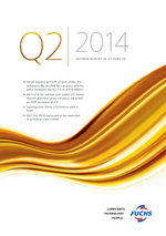 Cover of the Interim Report Q2 2014 of FUCHS PETROLUB SE