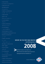 Cover of the Interim Report Q3 2008 of FUCHS PETROLUB SE