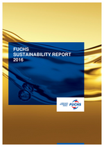 Cover of the Sustainability Report 2016 of FUCHS PETROLUB SE