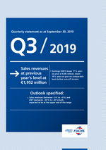 Cover of the Quarterly Statement Q1-3 2019 of FUCHS PETROLUB SE