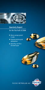 Cover of the Interim Report 2004 Q2 of FUCHS PETROLUB SE