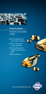 Cover of the Interim Report 2004 Q3 of FUCHS PETROLUB SE