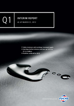 Cover of the Interim Report Q1 2012 of FUCHS PETROLUB SE