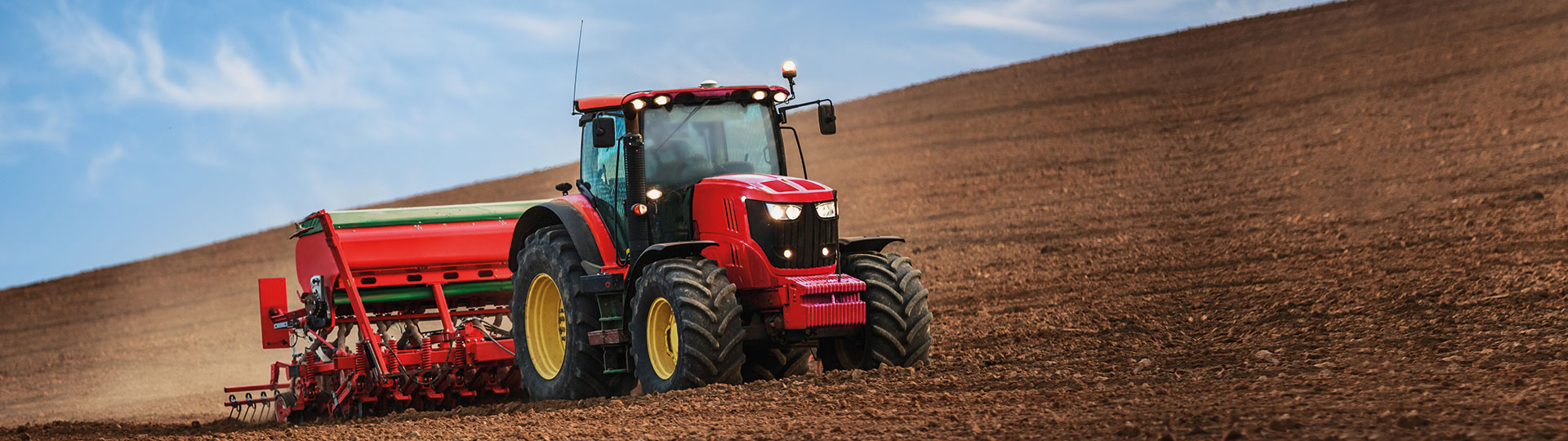 Tractor-on-a-field
