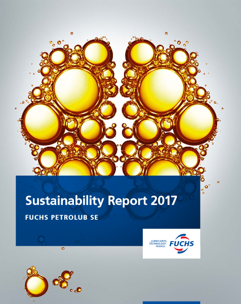 Cover of FUCHS sustainability report